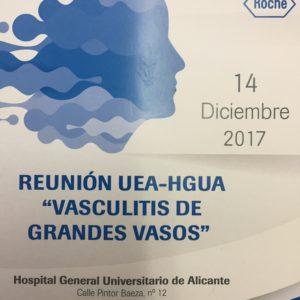 """REUNIÓN """"ACTUALIZACIÓN EN DIAGNÓSTICO Y TRATAMIENTO DE LAS VASCULITIS DE GRAN VASO"""""""