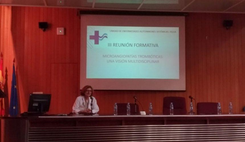 III SESION FORMATIVA DE LA UNIDAD MULTIDISCIPLINAR DE ENFERMEDADES AUTOINMUNES SISTEMICAS